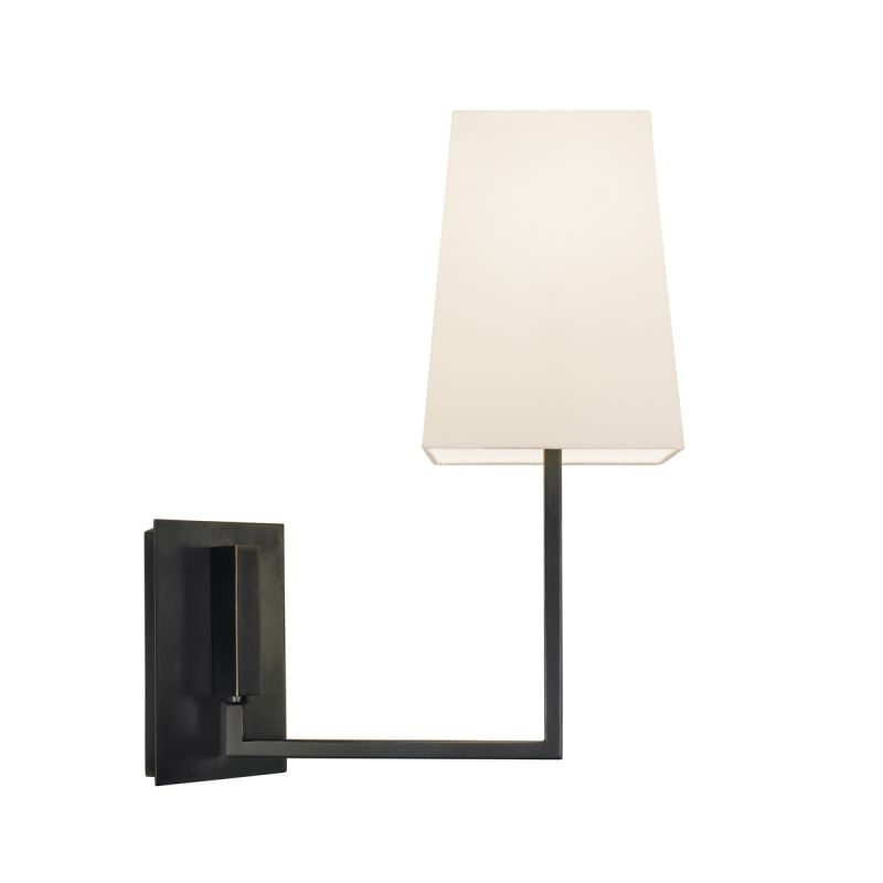 Sonneman 4445 Verso 1 Light Wall Sconce with White Linen Shade Black Sale $300.00 ITEM#: 1721601 MODEL# :4445.51 UPC#: 872681031839 :