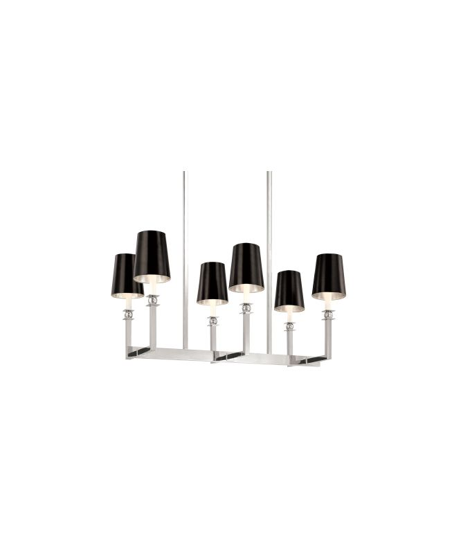 Sonneman 4456W Contemporary / Modern Six Light Rectangle Chandelier Sale $652.00 ITEM#: 571630 MODEL# :4456.09W UPC#: 872681015648 :