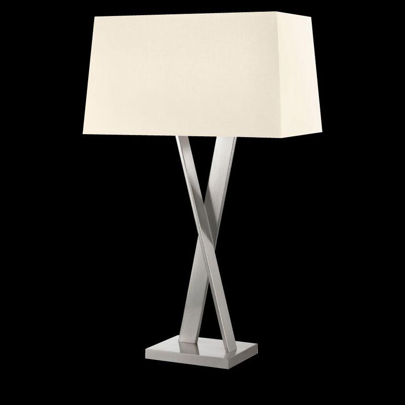 Sonneman 4660 X-Lamp 2 Light Table Lamp with Linen Shade Satin Nickel Sale $590.00 ITEM#: 2655527 MODEL# :4660.13 UPC#: 872681062444 :
