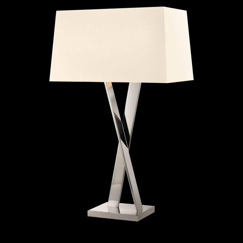 Sonneman 4660 X-Lamp 2 Light Table Lamp with Linen Shade Polished Sale $590.00 ITEM#: 2655529 MODEL# :4660.35 UPC#: 872681062468 :