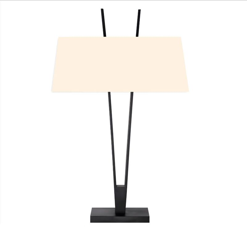 Sonneman 4670 V-Lamp 2 Light Table Lamp with Linen Shade Satin Black Sale $500.00 ITEM#: 2655523 MODEL# :4670.25 UPC#: 872681062499 :
