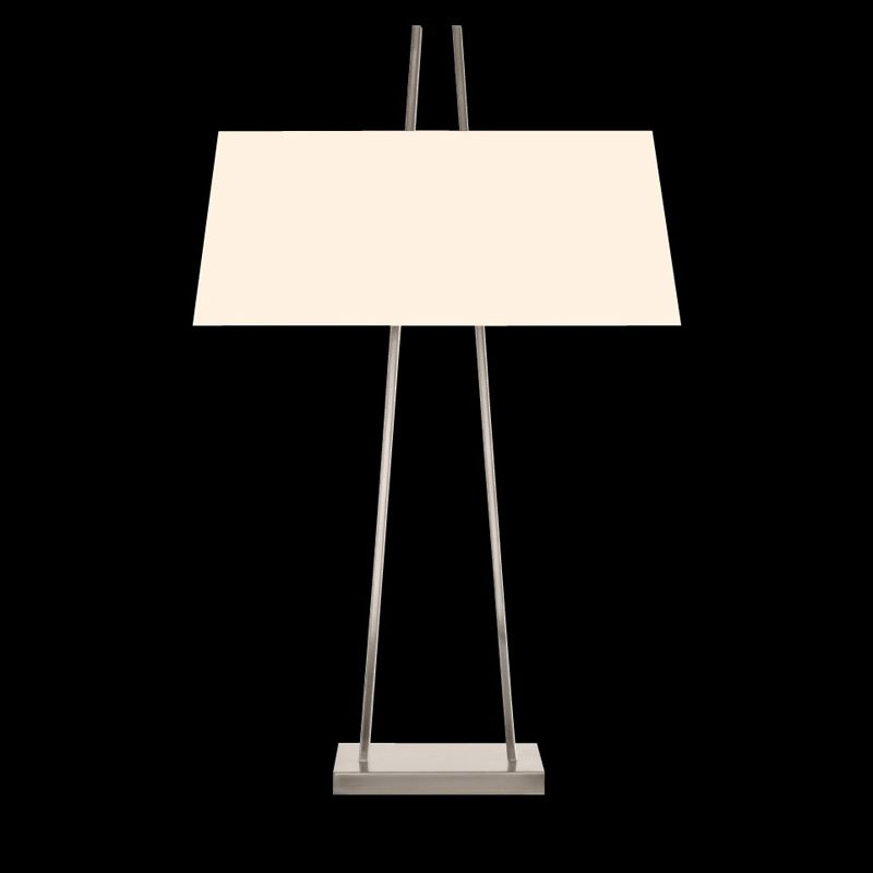 Sonneman 4680 A-Lamp 2 Light Table Lamp with Linen Shade Satin Nickel Sale $590.00 ITEM#: 2655511 MODEL# :4680.13 UPC#: 872681062536 :