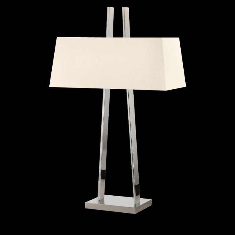 Sonneman 4680 A-Lamp 2 Light Table Lamp with Linen Shade Polished Sale $590.00 ITEM#: 2655512 MODEL# :4680.35 UPC#: 872681062543 :