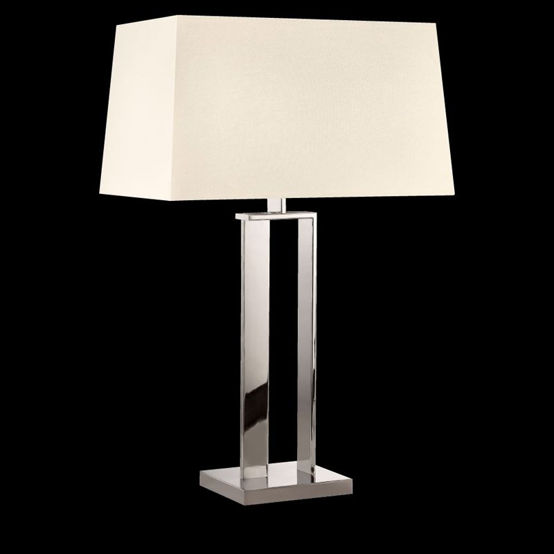 Sonneman 4690 D-Lamp 2 Light Table Lamp with Linen Shade Polished