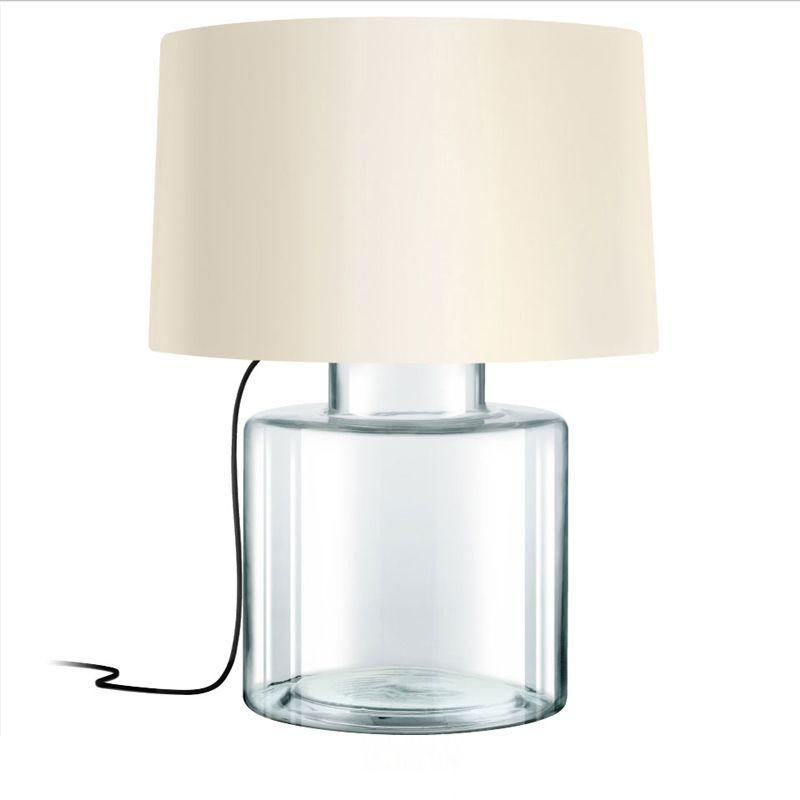 Sonneman 4770 Grasso 1 Light Table Lamp with Linen Shade Clear Glass Sale $590.00 ITEM#: 2655519 MODEL# :4770.87K UPC#: 872681063649 :