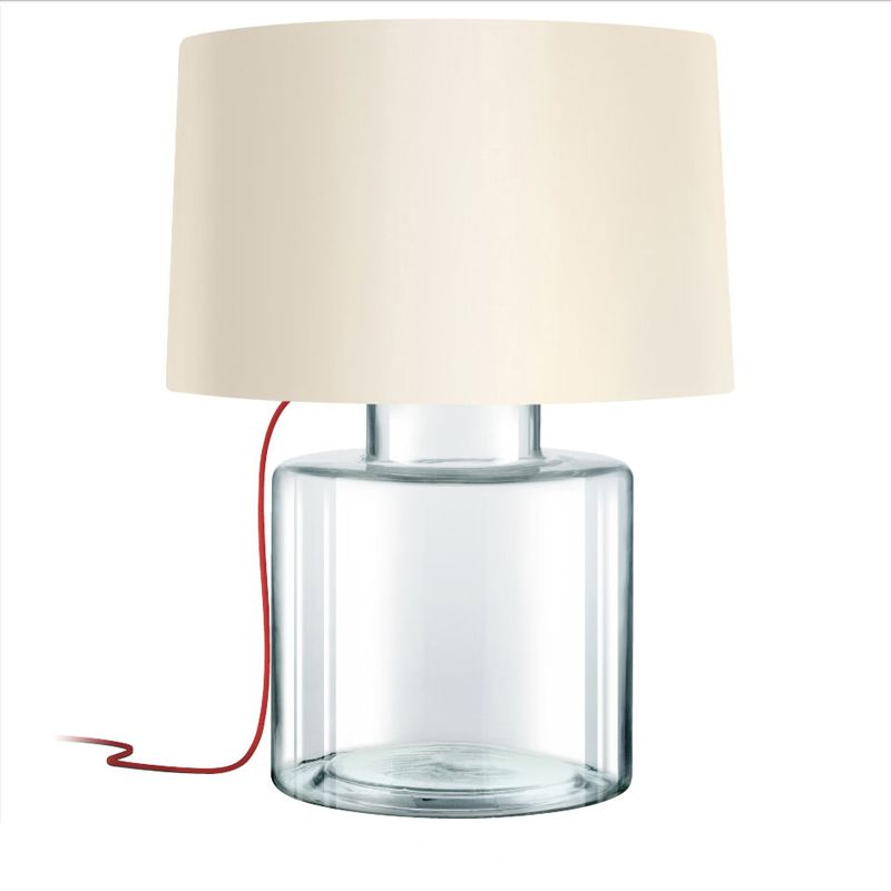 Sonneman 4770 Grasso 1 Light Table Lamp with Linen Shade Clear Glass Sale $590.00 ITEM#: 2655520 MODEL# :4770.87R UPC#: 872681063656 :