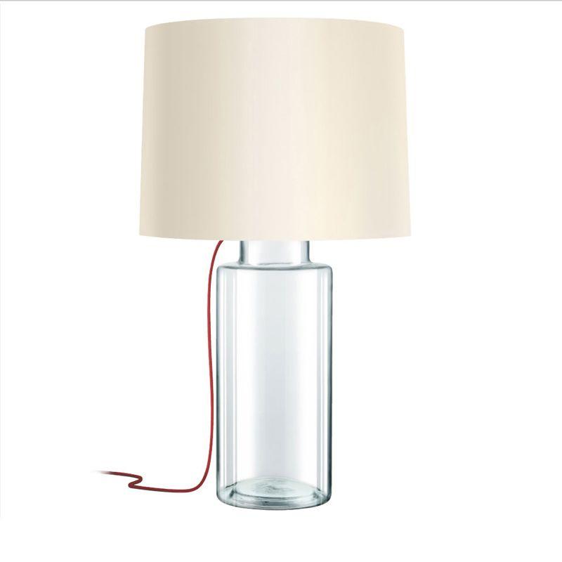 Sonneman 4775 Vaso 1 Light Table Lamp with Linen Shade Clear Glass Sale $490.00 ITEM#: 2655522 MODEL# :4775.87R UPC#: 872681063670 :
