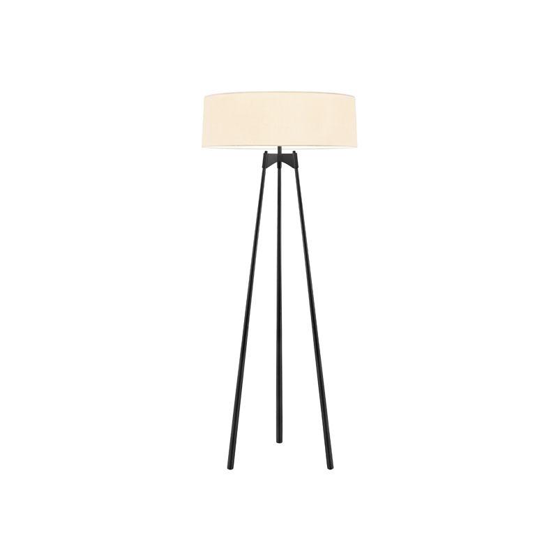 Sonneman 6170 Torii 3 Light Floor Lamp with Cream Shade Satin Black Sale $950.00 ITEM#: 2406318 MODEL# :6170.25 UPC#: 872681056146 :