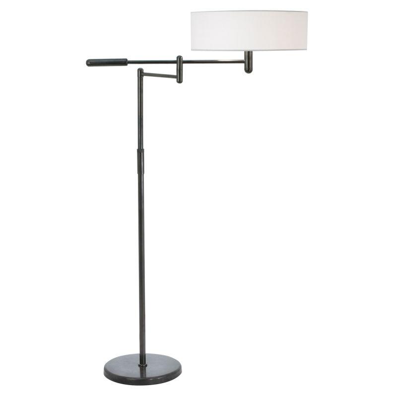 Sonneman 7001 Perno 2 Light Floor Lamp with Cream Shade Black Brass
