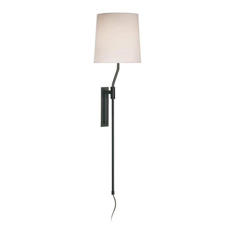 Sonneman 7009 Palo 1 Light Wall Sconce with White Linen Shade Black Sale $250.00 ITEM#: 524264 MODEL# :7009.51 UPC#: 872681010018 :