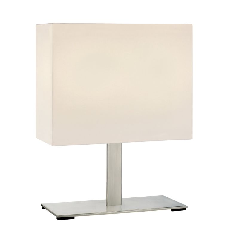 Sonneman 7020F Mitra 2 Light LED Table Lamp with Cream Shade Satin