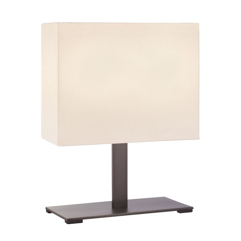 Sonneman 7020F Mitra 2 Light LED Table Lamp with Cream Shade Black