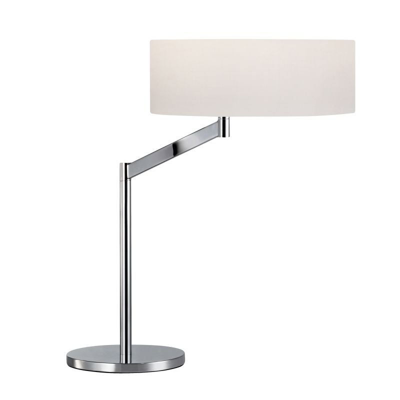 Sonneman 7082 Perch 1 Light Table Lamp with White Shade Polished