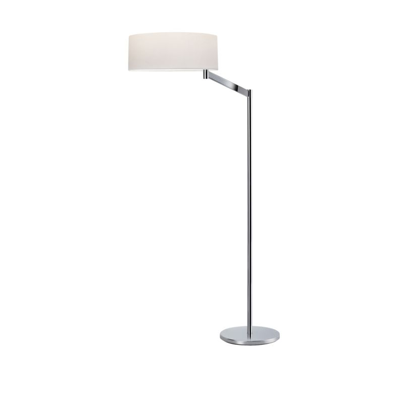 Sonneman 7083 Perch 1 Light Floor Lamp with White Shade Polished