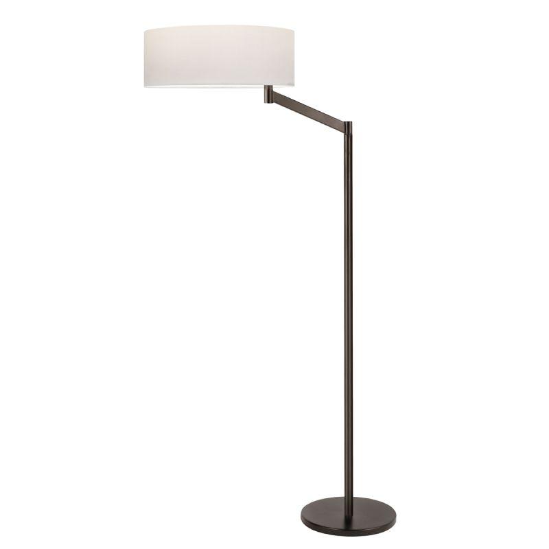 Sonneman 7083 Perch 1 Light Floor Lamp with White Shade Coffee Bronze