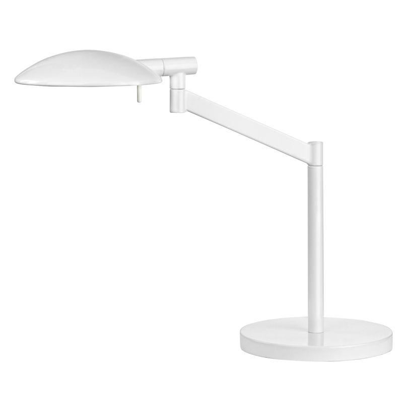 Sonneman 7087 Perch 1 Light Swing Arm Desk Lamp Gloss White Lamps