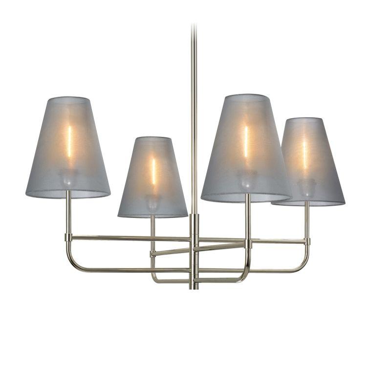 Sonneman 1965 Bistro 4 Light Multi Light Chandelier Polished Nickel