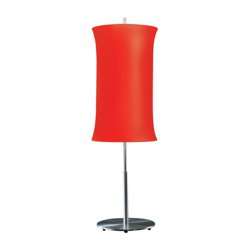 "Sonneman 3131.10 Lightweights 2 Light 33"" Height Table Lamp Red Shade"