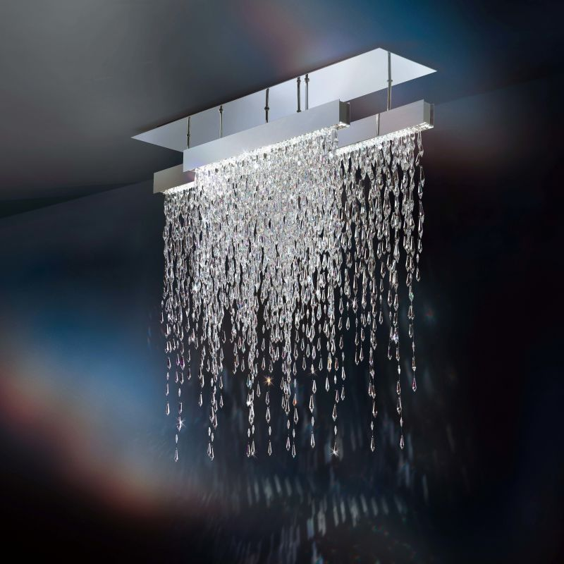 "Swarovski Crystalline Icicles SCR435N Crystalline Icicles 18 Light 44"" Sale $20615.00 ITEM#: 2957174 MODEL# :SCR435N-SS1S :"
