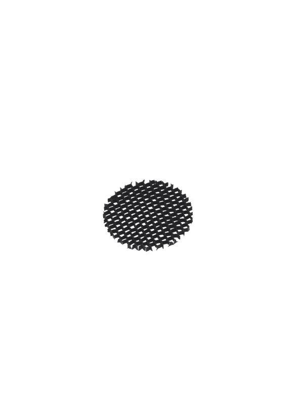 Tech Lighting 700A03-36 AR111 Eggcrate Louver Black Accessory Louvers