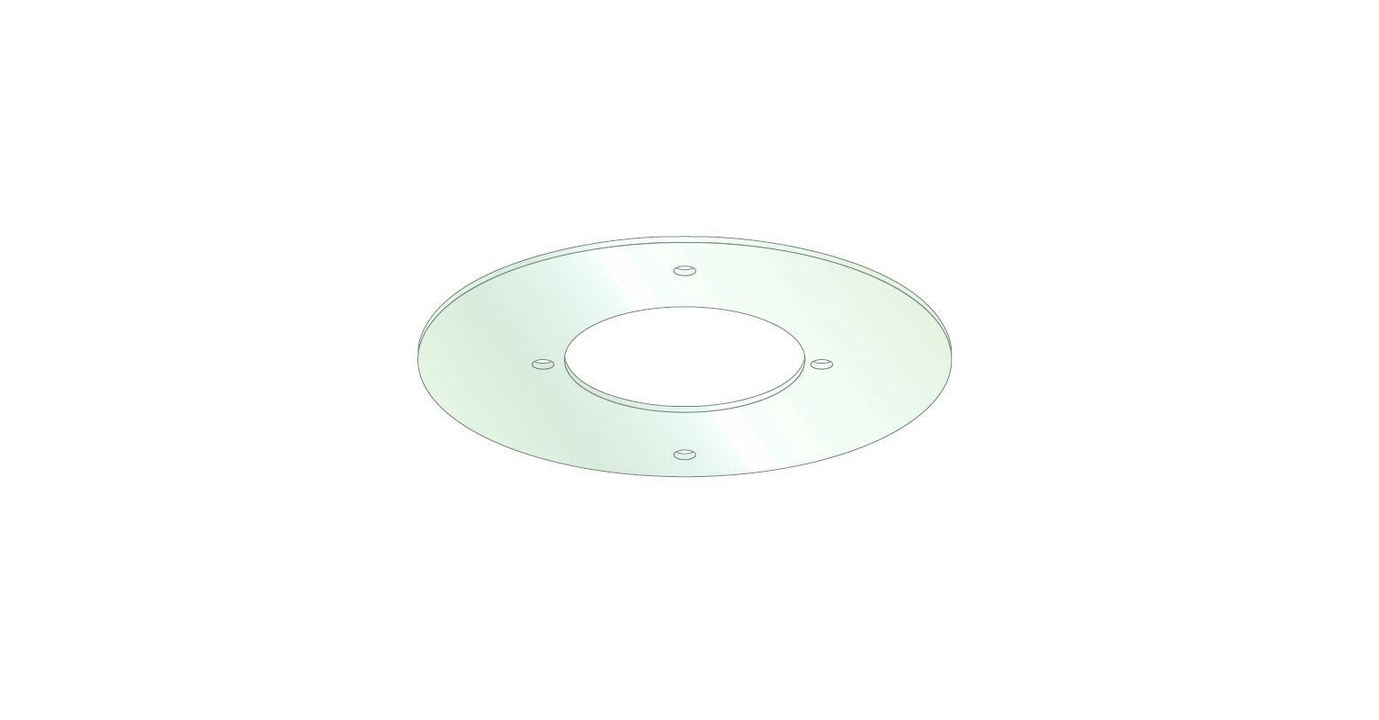 "Tech Lighting 700CNPGR 5.5"" Diameter Canopy Goof Ring White Accessory"
