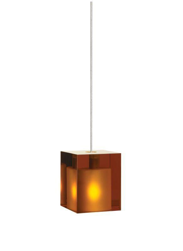 Tech Lighting 700FJCUBA FreeJack Amber Cube Glass Pendant - 12v Sale $181.60 ITEM#: 828237 MODEL# :700FJCUBAC UPC#: 756460845933 :