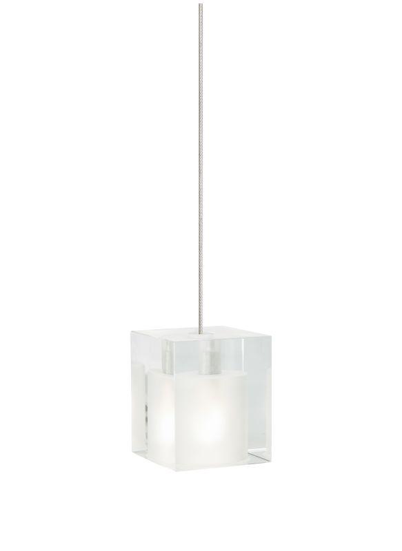 Tech Lighting 700FJCUBF FreeJack Frost Cube Glass Pendant - 12v