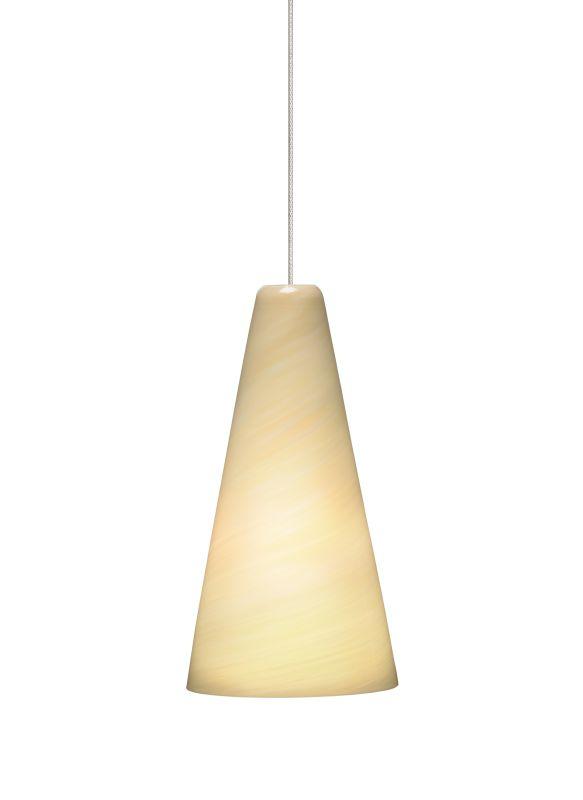 Tech Lighting 700FJTAZC FreeJack Mini Taza Cream Twisted Blown Glass
