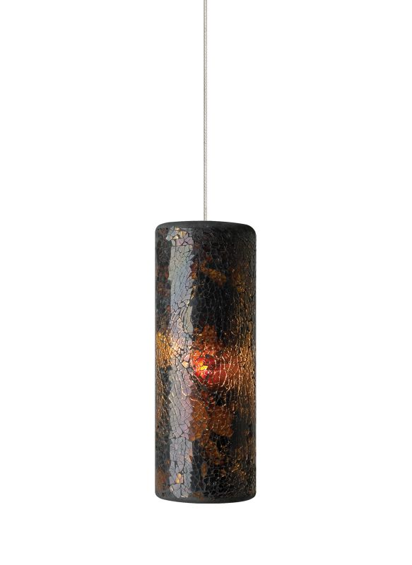 Tech Lighting 700FJVEIN FreeJack Veil Cylindrical Crushed Brown Glass Sale $243.20 ITEM#: 2222176 MODEL# :700FJVEINC UPC#: 884655079525 :