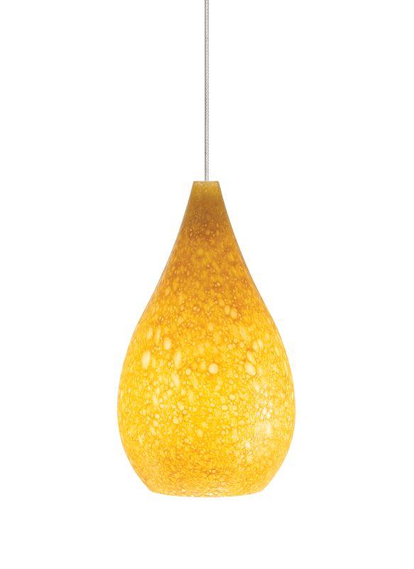Tech Lighting 700KLBRUA Kable Lite Brul�©e Teardrop Shaped Amber Glass