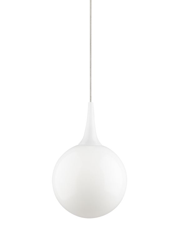 Tech Lighting 700KLPELW Kable Lite Pel�© White Modern Glass Sphere Sale $223.20 ITEM#: 2261407 MODEL# :700KLPELWS UPC#: 884655079426 :