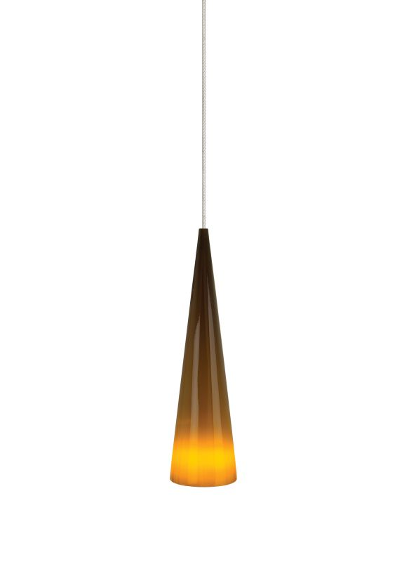 Tech Lighting 700KLPINSN Kable Lite Pinnacle Brown Small Glass Cone Sale $264.00 ITEM#: 2261409 MODEL# :700KLPINSNS UPC#: 756460496296 :