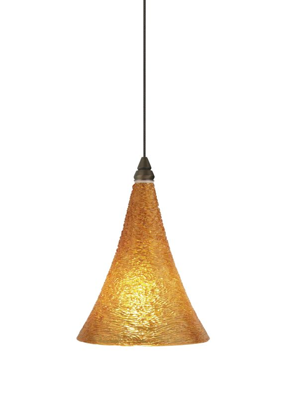Tech Lighting 700KLSUGA Kable Lite Sugar Amber Cone Shaped Glass