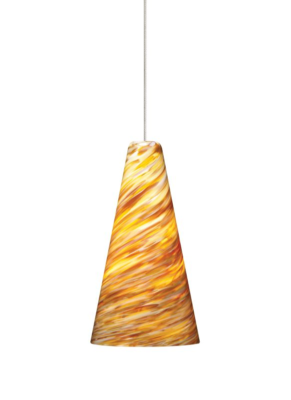 Tech Lighting 700KLTAZA Kable Lite Mini Taza Amber Twisted Blown Glass Sale $288.80 ITEM#: 827316 MODEL# :700KLTAZAS UPC#: 756460390990 :
