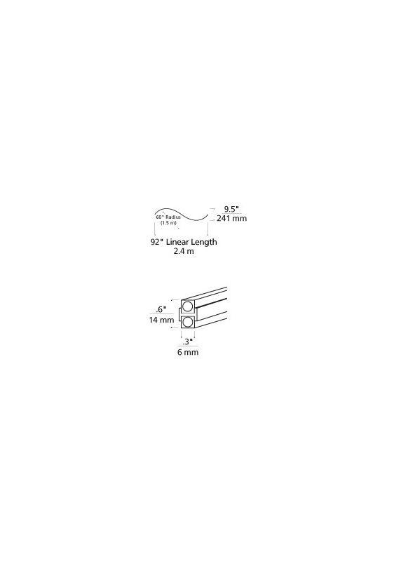 Tech Lighting 700MOBHSC60 MonoRail Pre-Bent S Curve Satin Nickel