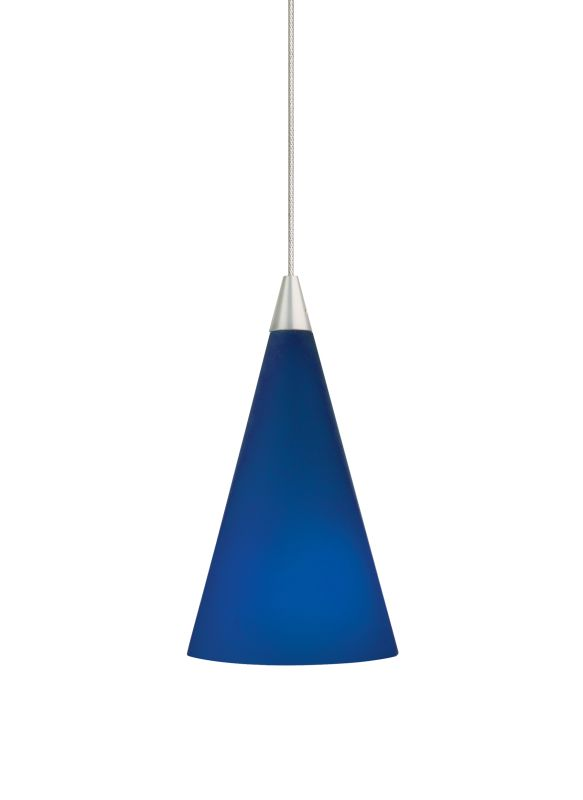 Tech Lighting 700MOCONP MonoRail Cobalt Glass Cone Pendant - 12v Sale $219.20 ITEM#: 827901 MODEL# :700MOCONPS UPC#: 756460623104 :