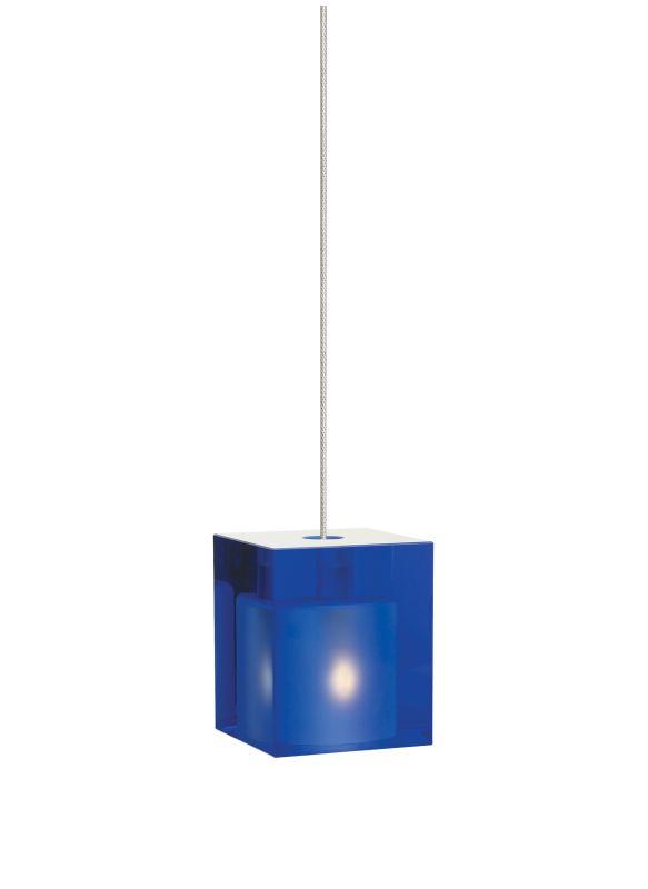 Tech Lighting 700MOCUBC MonoRail Cobalt Cube Glass Pendant - 12v