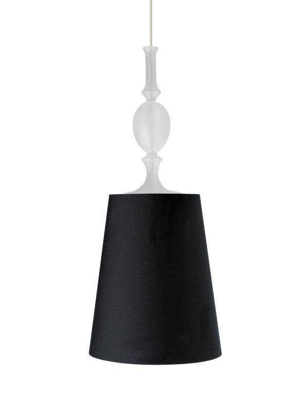 Tech Lighting 700MOKIEBF MonoRail Kiev Black Fabric Shade Pendant with