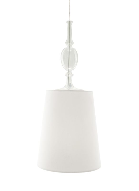 Tech Lighting 700MOKIEWF MonoRail Kiev White Fabric Shade Pendant with
