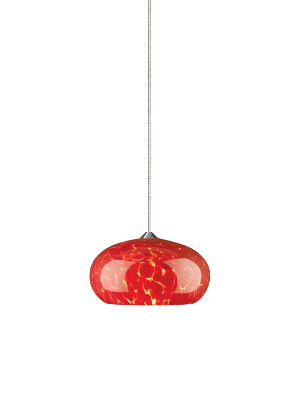 Tech Lighting 700MOMERF MonoRail Meteor Frit Red Dome Shaped Glass