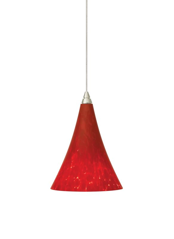 "Tech Lighting 700MOMMLR MonoRail Mini Melrose Ferrari Red Layered Sale $268.80 ITEM#: 827089 MODEL# :700MOMMLRC UPC#: 756460905811 Features: Gracefully shaped glass shade, richly layered in brilliant frit, with machined top detail Includes low-voltage, 50 watt halogen bi-pin lamp or 6 watt replaceable LED module and six feet of field-cuttable suspension cable Shown in Satin Nickel finishLamping Technologies: Bulb Base - GY6.35 - A bi pin or ' bipin socket', the GY6.35 has a pin spread of 6.35 mm and is used mostly with halogen bulbs common for task lighting and landscape lighting. Compatible Bulb Types: GY6.35 Bulb Base uses primarily a Halogen but is also compatible as LED and Xenon / Krypton.Specifications: Number of Bulbs: 1 Bulb Base: GY6.35 Bulb Type: Halogen Bulb Included: Yes Watts Per Bulb: 50 Wattage: 50 Height: 6.7"" Width: 4.9"" Energy Star: No :"