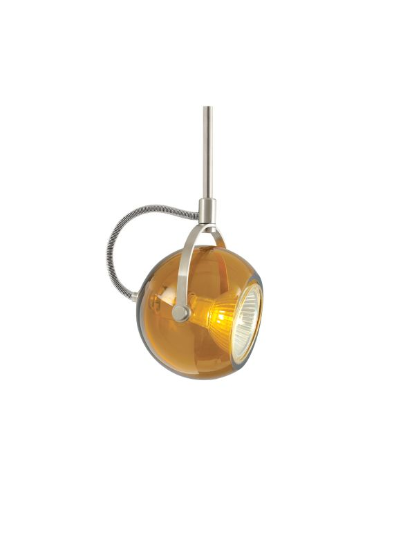 Tech Lighting 700MOPOD03A MonoRail Pod Amber Translucent Glass Orb