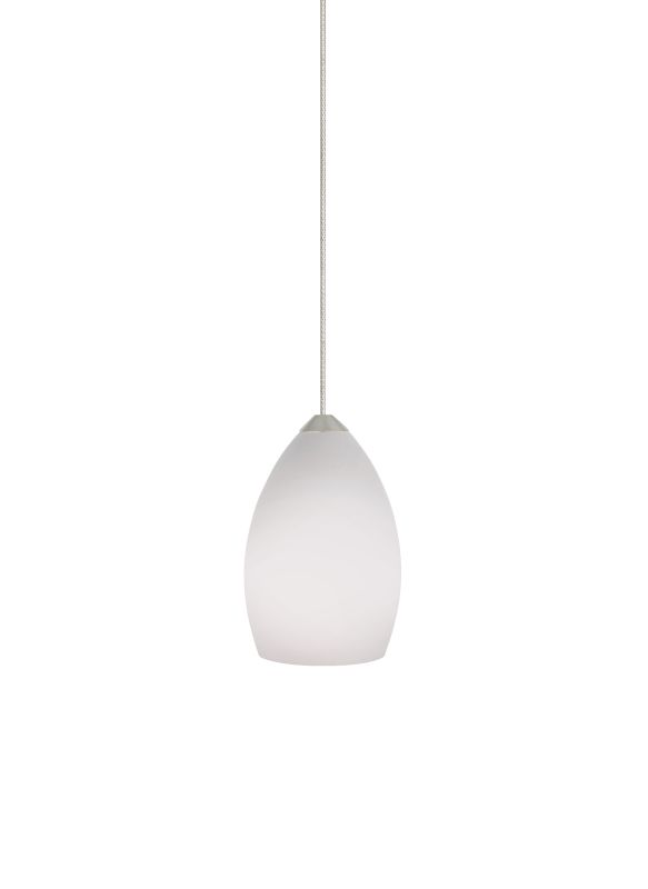 Tech Lighting 700MORDW MonoRail White Raindrop Shaped Glass Pendant