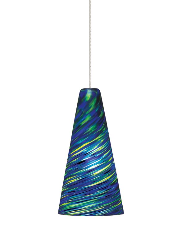 Tech Lighting 700MOTAZB MonoRail Mini Taza Blue-Green Twisted Blown