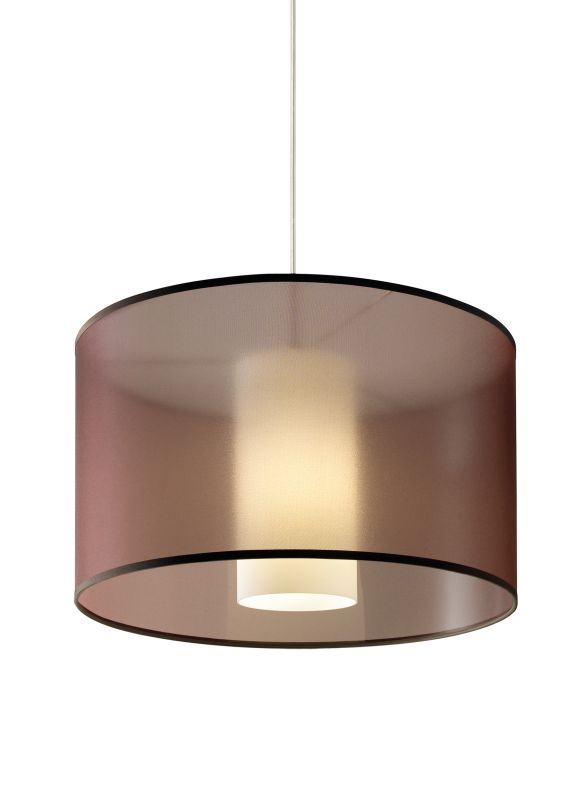 Tech Lighting 700TDDLNPWN-CF277 Dillon Brown Translucent Organza Drum Sale $482.40 ITEM#: 2980948 MODEL# :700TDDLNPWNS-CF277 UPC#: 884655071253 :