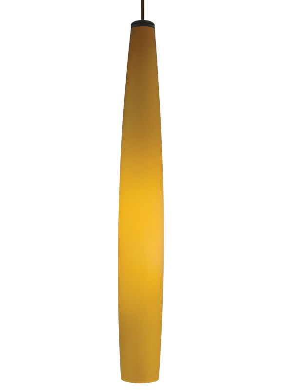 Tech Lighting 700TDFINPLA-CF Fino Large Slender Amber Case Glass Line