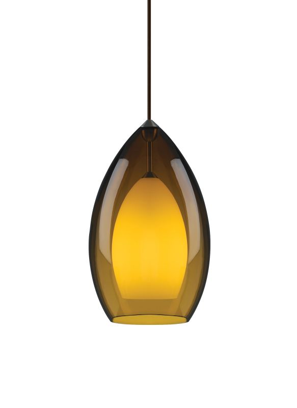 Tech Lighting 700TDFIRGPA Fire Grande Translucent Amber Glass Line