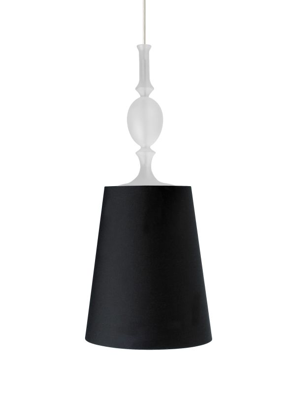 "Tech Lighting 700TDKIELPBF-CF277 Kiev Large Black Fabric Shade 277v Sale $441.60 ITEM#: 2981312 MODEL# :700TDKIELPBFS-CF277 UPC#: 884655072410 Features: Antique meets modern with a turned ornate glass fount and simple tapered fabric shade with rolled edges Black, satin nickel, and white finish options highlighted with a satin nickel detail and clear cable; antique bronze finish includes antique bronze detail and brown cable Includes 120 volt, 75 watt A19 medium base lamp or GX24Q-3 base 32 watt triple tube compact fluorescent lamp (electronic ballast included) Fixture provided with six feet of field-cuttable cable Incandescent version dimmable with standard incandescent dimmer Shown in Satin Nickel finishLamping Technologies: Bulb Base - CFL Plug-in - This is a quad-pin base with two bi-pin pairs. These are used with compact fluorescent tubes that plug into a light fixture that has a permanent ballast.Specifications: Number of Bulbs: 1 Bulb Base: CFL Plug-in Bulb Type: Compact Fluorescent Bulb Included: Yes Watts Per Bulb: 32 Wattage: 32 Voltage: 277 Height: 23.6"" Width: 9.9"" Energy Star: No :"