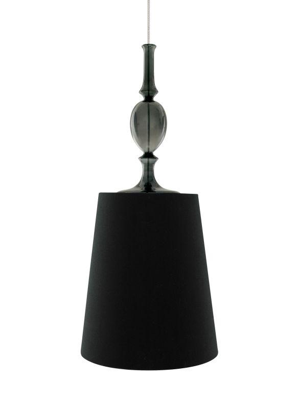 Tech Lighting 700TDKIELPBK-CF Kiev Large Black Fabric Shade Line