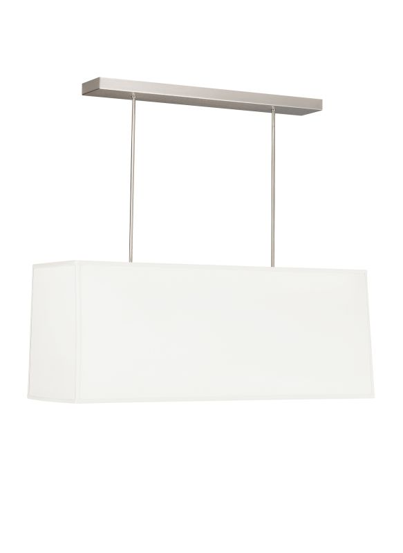 "Tech Lighting 700TDMERC48W Mercer 48"" Rectangular White Tapered Fabric"